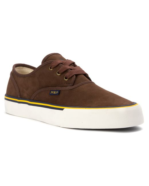 Polo Ralph Lauren | Brown Moray Nubuck Lace-up Sneakers for Men | Lyst