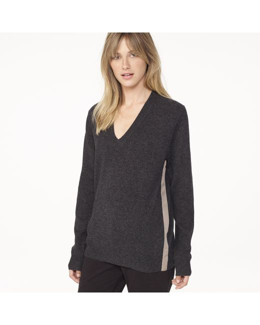 James Perse   Gray Classic Cashmere V Neck   Lyst