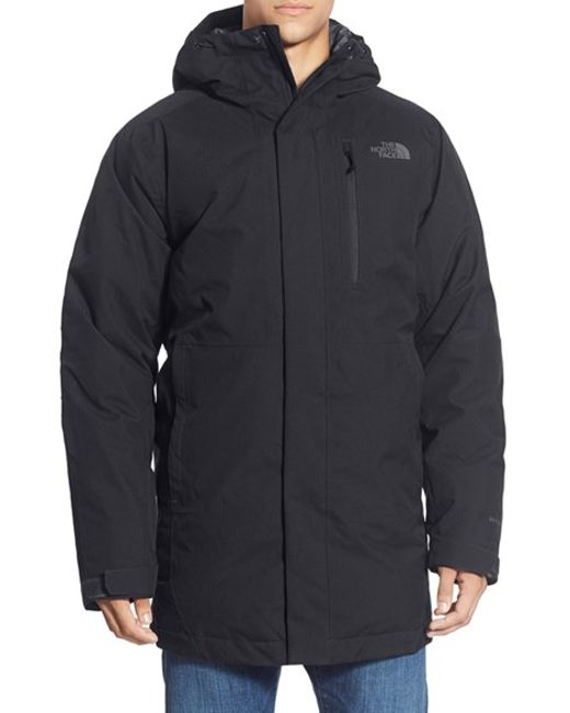 The North Face | Black 'mount Elbert' Hooded Waterproof Parka for Men | Lyst