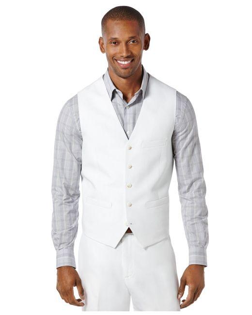 Perry Ellis | White Linen Vest for Men | Lyst