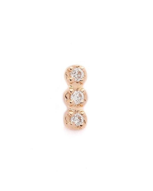 Ginette NY | Metallic Solo Diamond Strip Stud Earring | Lyst