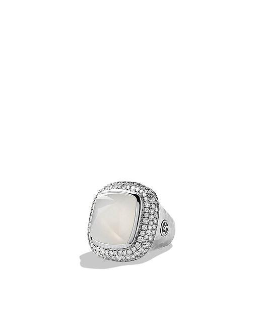 David Yurman | Blue Albion Ring With Moon Quartz And Diamonds | Lyst