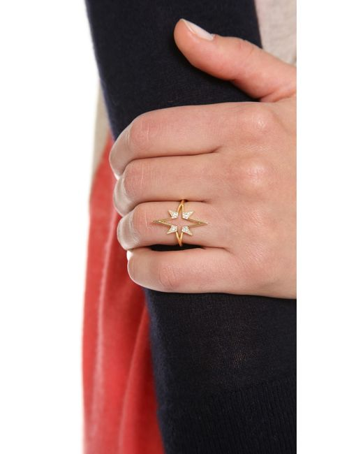 Elizabeth and James | Metallic Astral Ring | Lyst