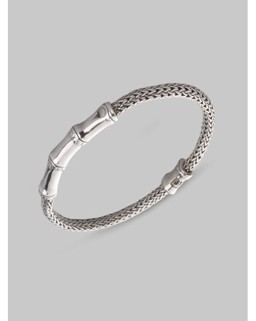 John Hardy | Metallic Bamboo Sterling Silver Station Chain Bracelet | Lyst