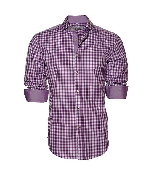 Ethan Williams Clothing Purple White Check With Purple