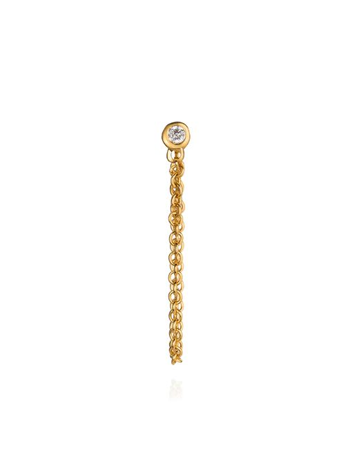 Lee Renee | Metallic Diamond And Chain Stud Earring | Lyst