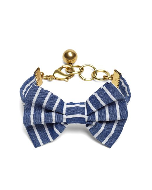 Brooks Brothers | Blue Kiel James Patrick Seersucker Stripe Bow Tie Bracelet | Lyst