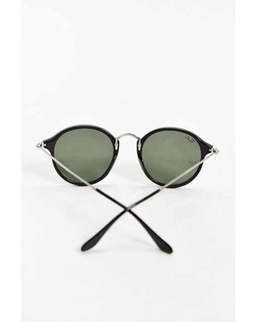Ray-Ban | Black Havana Spotted Round Sunglasses for Men | Lyst