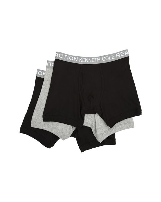 Kenneth Cole Reaction | Black 3-pack Boxer Brief for Men | Lyst