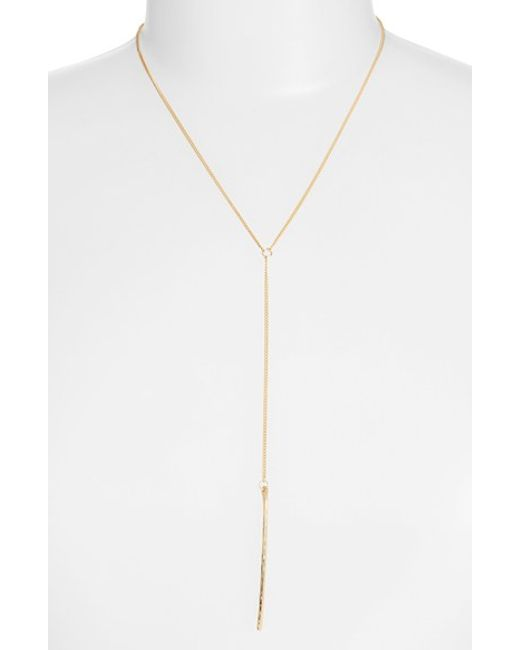 Nashelle | Metallic Ija Long Bar Y-necklace | Lyst