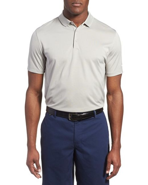 Nike 39 victory dri fit golf polo in gray for men lyst for Nike dri fit victory golf shirts