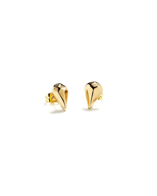 Bing Bang | Yellow Diamond Drop Studs | Lyst
