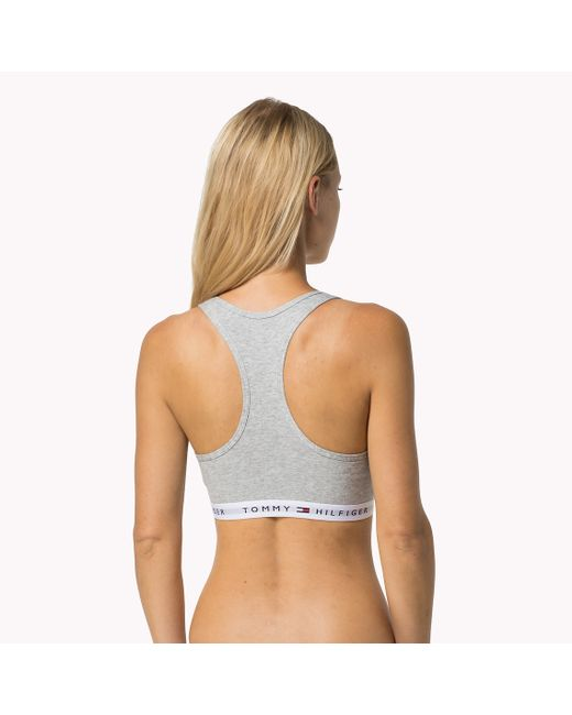 Tommy Hilfiger   Gray Cotton Iconic Bralette   Lyst