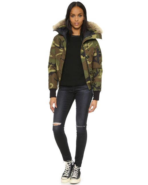 Canada Goose | Green Chilliwack Down-filled Bomber Jacket | Lyst