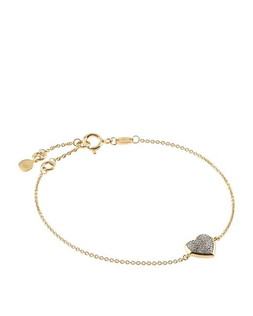 Links of London | Metallic Diamond Essentials Pavã© Diamond Heart Bracelet | Lyst