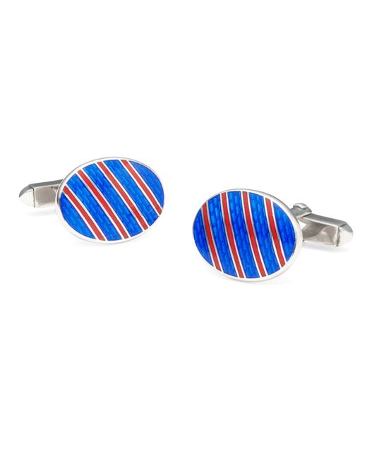 Brooks Brothers | Blue Single Stripe Cuff Links for Men | Lyst