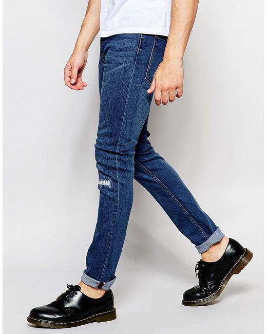 Cheap monday Jeans Tight Stretch Skinny Fit Surreal Blue ...