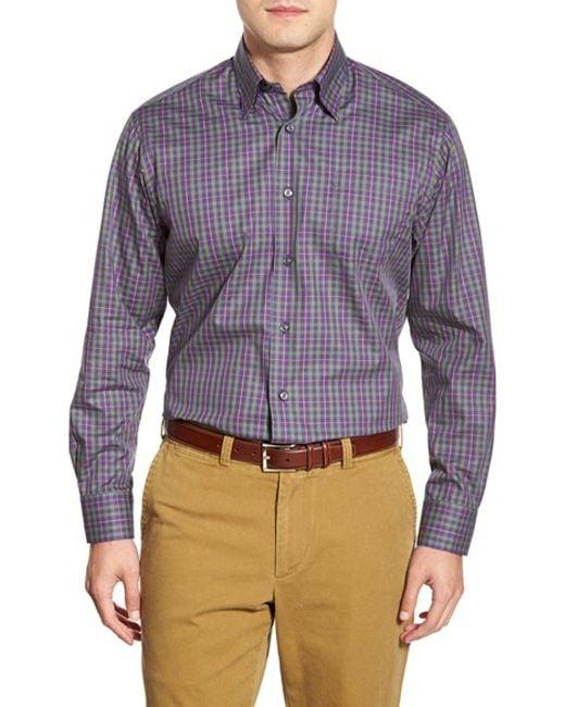 Robert talbott 39 anderson 39 classic fit long sleeve plaid for Robert talbott shirts sale