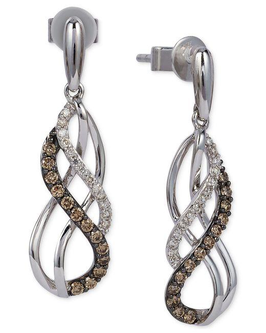 Le Vian | Metallic Chocolatier® Diamond Swirl Earrings (1/3 Ct. T.w.) In 14k White Gold | Lyst