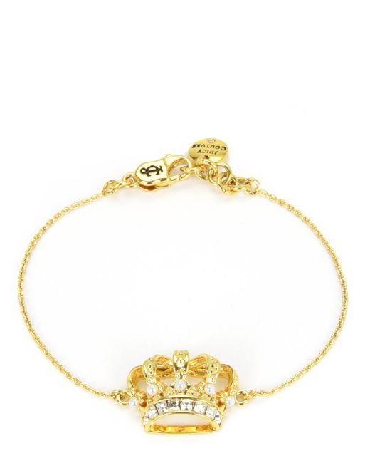 Juicy Couture | Metallic Royal Crown Wish Bracelet | Lyst