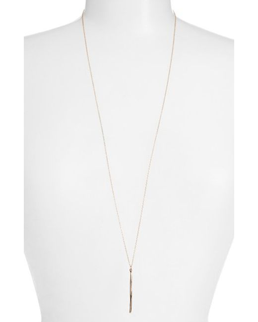 Gorjana | Pink 'taner Dagger' Dagger Pendant Long Necklace | Lyst