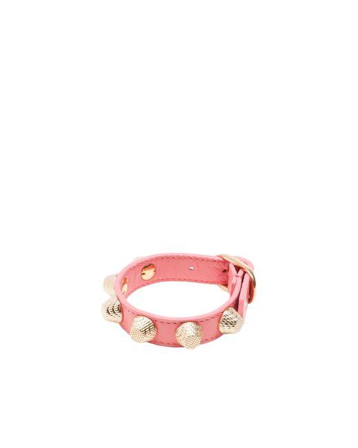 Balenciaga | Pink Giant Gold Bracelet Stud | Lyst