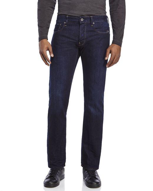 g star raw attacc slim straight leg jeans in blue for men. Black Bedroom Furniture Sets. Home Design Ideas