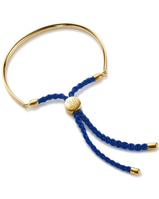 Monica Vinader | Metallic Fiji 18ct Gold-plated Friendship Bracelet | Lyst