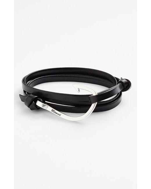 Miansai | Metallic Silver Hook Leather Bracelet for Men | Lyst