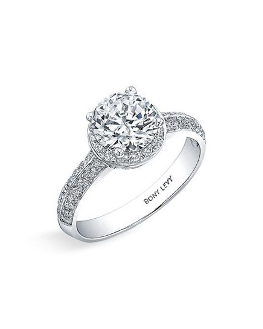 Bony Levy | White Pave Diamond Engagement Ring Setting | Lyst