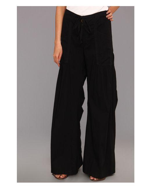XCVI | Black Willow Wide Leg Stretch Poplin Pants | Lyst