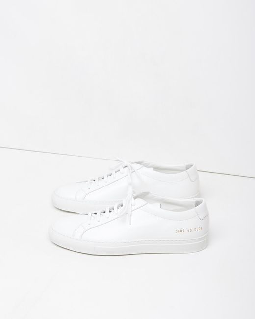 common projects original achilles low sneaker in white lyst. Black Bedroom Furniture Sets. Home Design Ideas