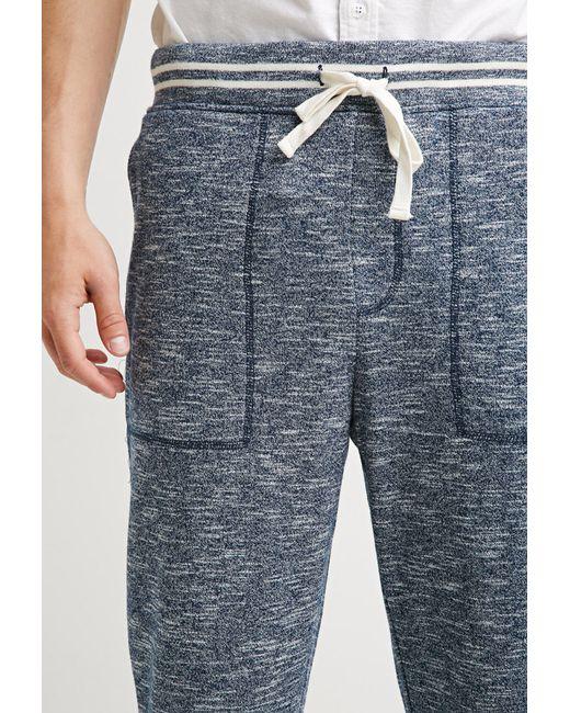 Forever 21   Blue Marled Varsity-stripe Sweatpants for Men   Lyst