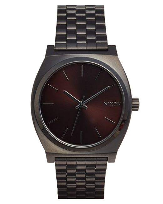 Nixon | Black 'the Time Teller' Stainless Steel Bracelet Watch for Men | Lyst