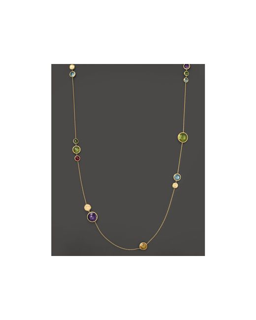 Marco Bicego | Metallic 18k Yellow Gold Jaipur Gemstone Necklace, 36"