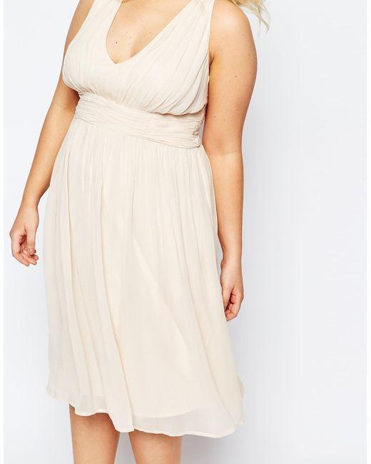 Simple Wedding Dresses Asos: Asos Wedding Hollywood Midi Dress In Beige (Nude)