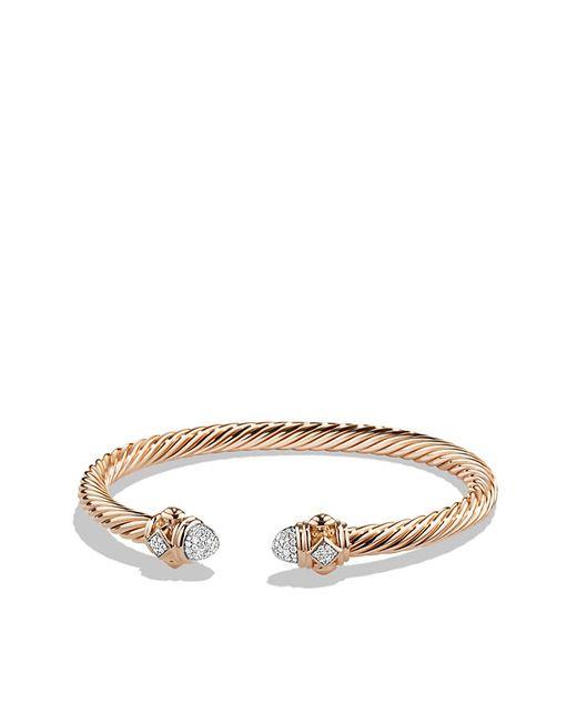 David Yurman | Pink Renaissance Bracelet With Diamonds In 18k Rose Gold, 5mm | Lyst