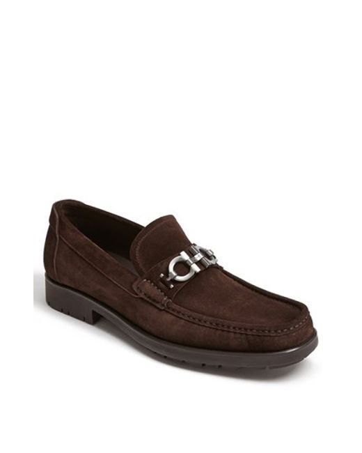 Ferragamo | Brown 'master' Loafer for Men | Lyst