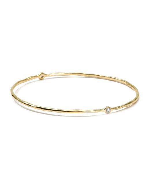 Ippolita | Metallic 18k Gold 2 Diamond Bangle (size 1) | Lyst