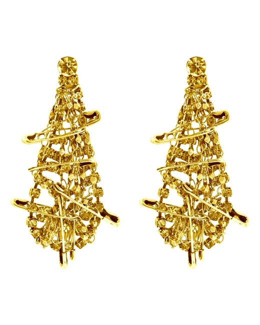 Tom Binns | Gold 'punk Chic' Safety Pin Earrings | Lyst