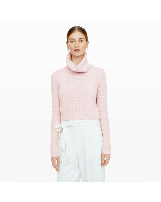 Club Monaco | Pink Leala Crop Turtleneck | Lyst