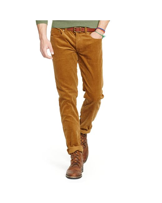 Polo Ralph Lauren | Brown Slim-fit Stretch Corduroy Pant for Men | Lyst