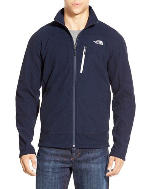 The North Face | Blue 'texture Cap Rock' Fleece Jacket for Men | Lyst