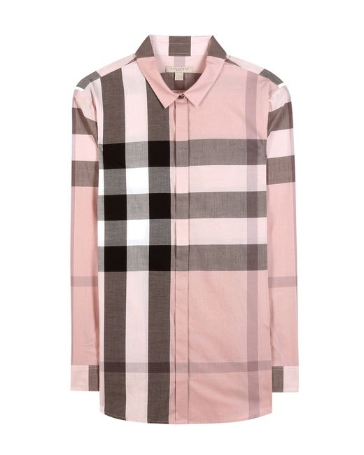 Burberry brit cotton check shirt in multicolor for men for Burberry brit checked shirt