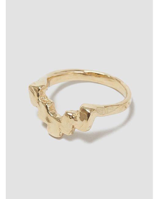 Odette New York | Metallic Stepped Ring Brass | Lyst