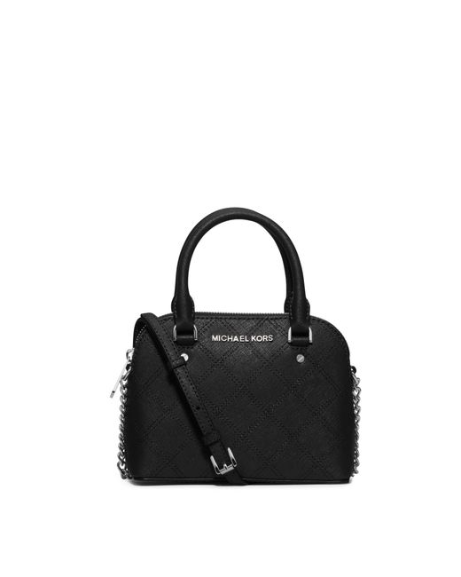 Michael Kors | Black Cindy Extra-small Saffiano Leather Crossbody | Lyst