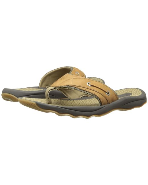 Sperry Top Sider Outer Banks Thong In Brown For Men Lyst
