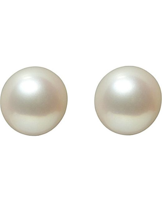Annoushka | Classic 8mm Pearl And 18ct White-gold Stud Earrings | Lyst