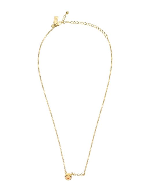 kate spade new york | Metallic Tell All Bride Emoji Necklace | Lyst