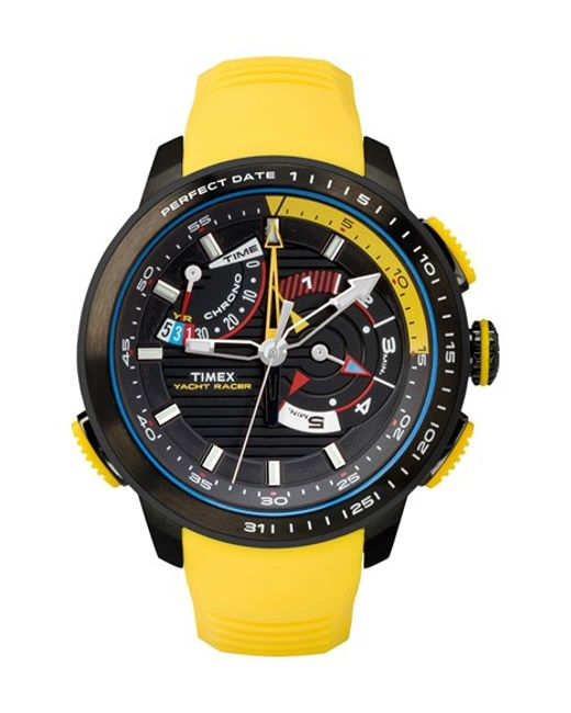 Timex | Yellow Timex 'intelligent Quartz - Yacht Racer' Silicone Strap Watch for Men | Lyst